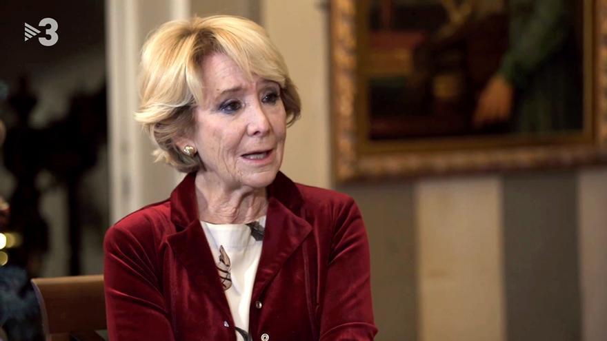 Esperanza Aguirre, entrevistada en TV3