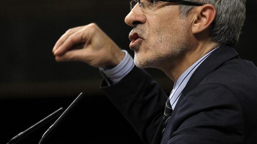 Llamazares dice sobre Rato que siempre el presunto culpable se declara inocente