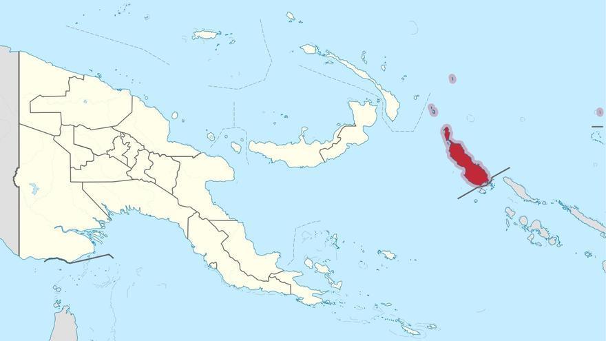 Bougainville se sitúa a a 700 kilómetros de la costa de Papúa Nueva Guinea.