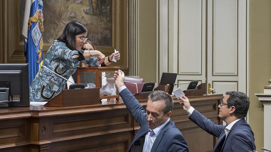 Votación en el Parlamento de Canarias
