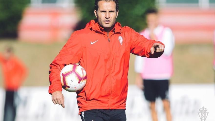 Baraja cuando era entrenador del Sporting de Gijón.