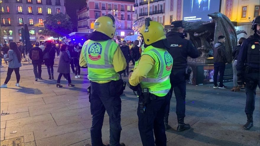 26 heridos en la manifestación en Madrid contra la sentencia, 11 policías y 15 civiles