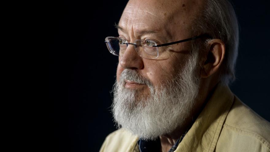 El director José Luis Cuerda durante la presentación del documental 'Astral' en Madrid en 2016.