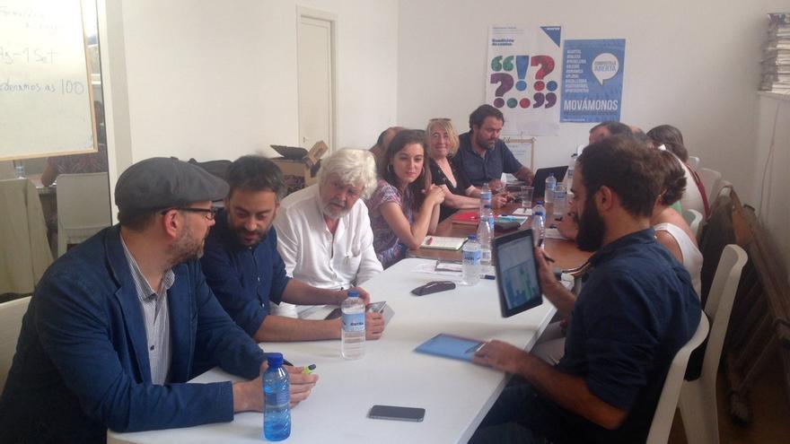 Reunión de la coordinadora de En Marea, este miércoles en Santiago