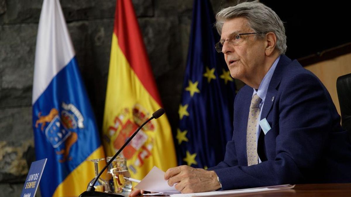 El portavoz del Ejecutivo canario, Julio Pérez