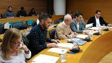 Los representantes de PSPV, Compromís, Podemos, Ciudadanos y PP en la comisión de la nueva RTVV