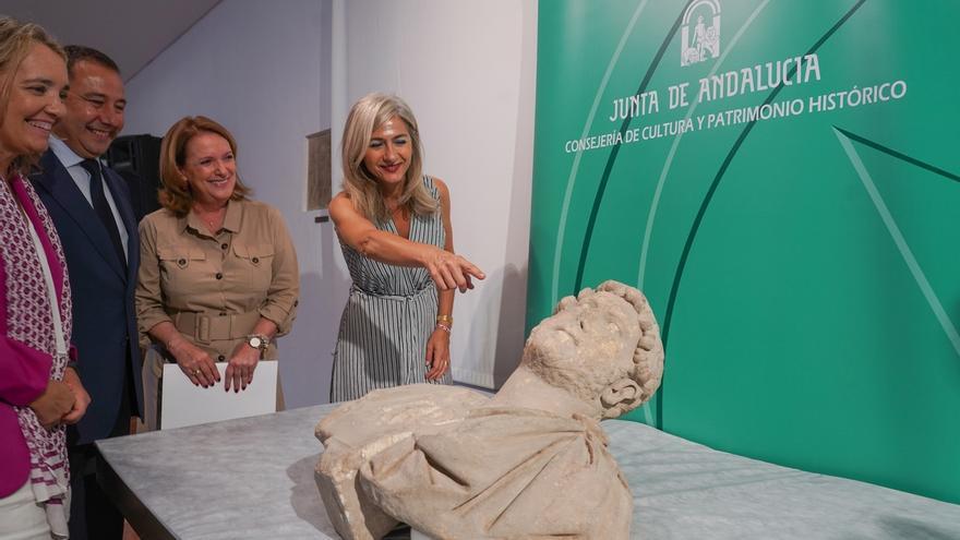 """El Museo Arqueológico custodiará y restaurará el busco romano """"único y excepcional"""" recuperado en Écija"""