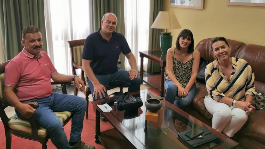 Visita de Anselmo Pestana a Fuencaliente.