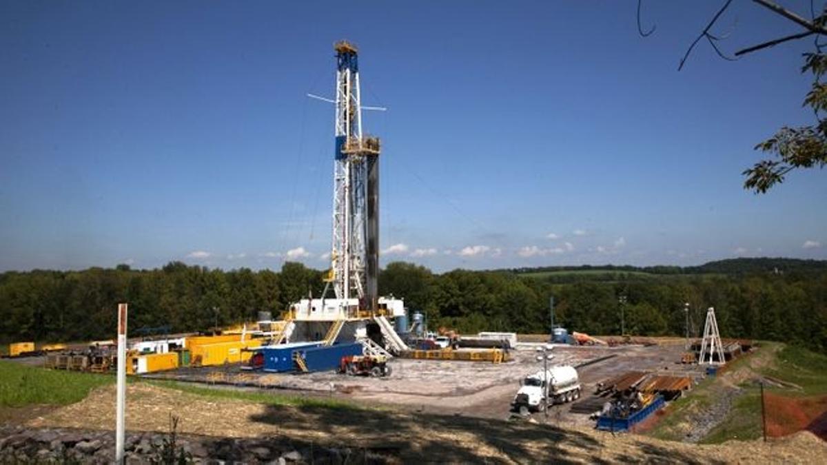 Imagen de archivo de un pozo de fracking