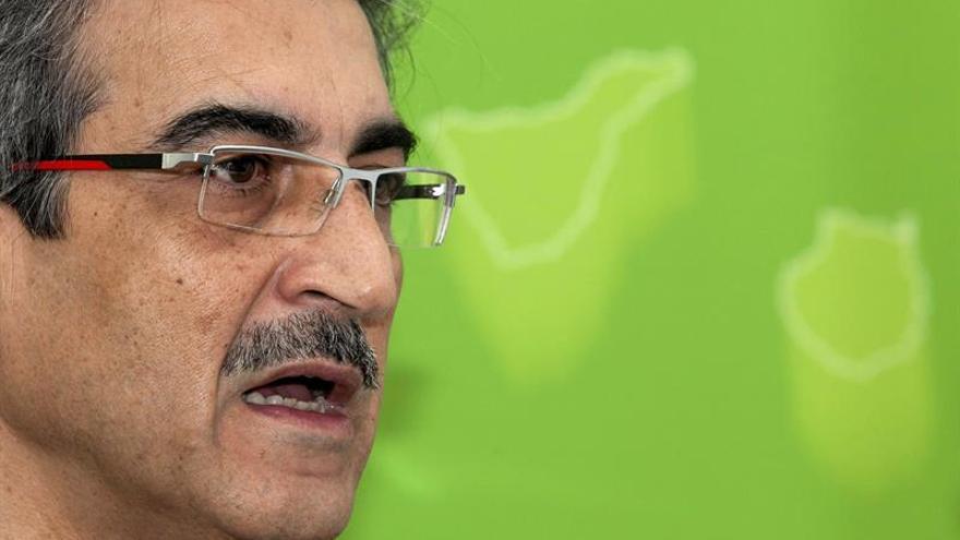 El presidente de Nueva Canarias, Román Rodríguez.. EFE/Ángel Medina G.
