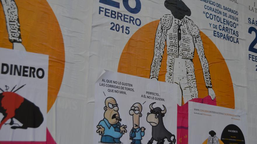 Cartel contra el festival taurino de Cospedal 4 / Foto: Javier Robla