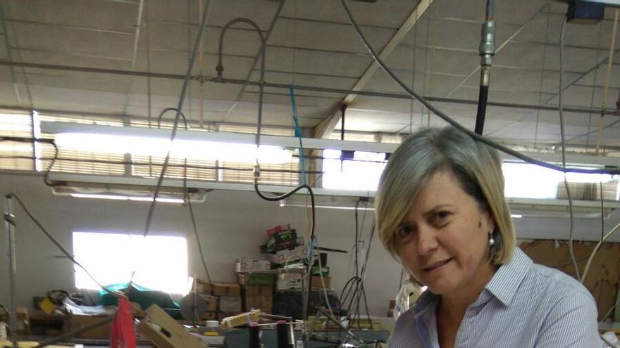 Rosario Porras, presidenta de la cooperativa textil Sajíes, de San Pablo de Buceite (Cádiz)