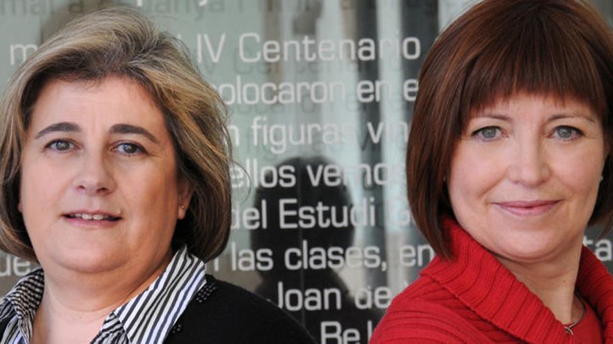 Esperanza Camps y Empar Marco, en la presentación de su libro conjunto sobre RTVV.