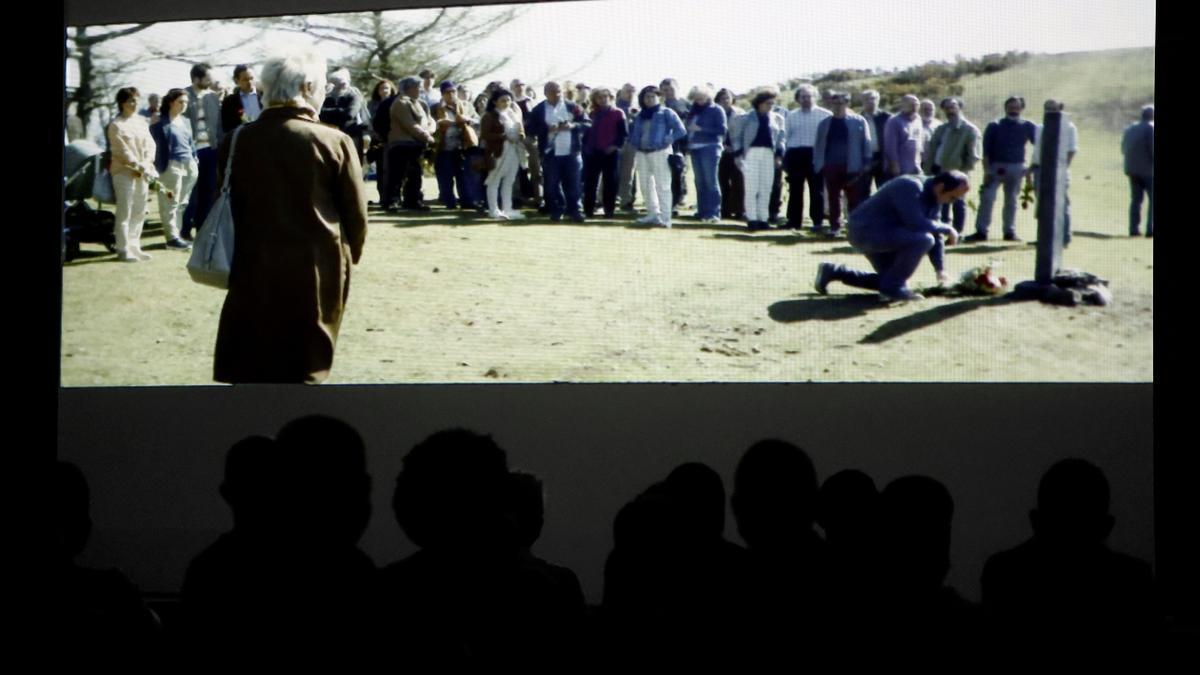 Vista de la película 'Maixabel' en la cárcel de Pamplona
