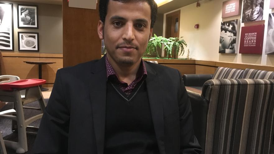 Abdallah Rafik, estudiante yemení, que migró a Líbano para continuar sus estudios.