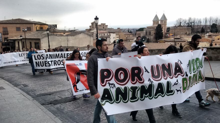 Manifestación dignidad animal Toledo