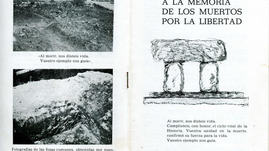 Portada de la memoria de la construcción del 'Mausoleo a la memoria de los muertos por la libertad'.