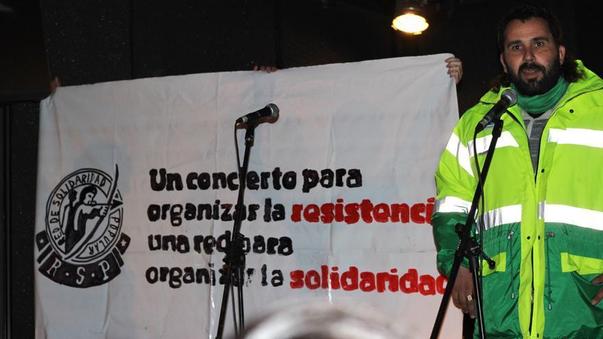 Concierto en apoyo a la huelga de limpieza viaria en Villa de Vallekas