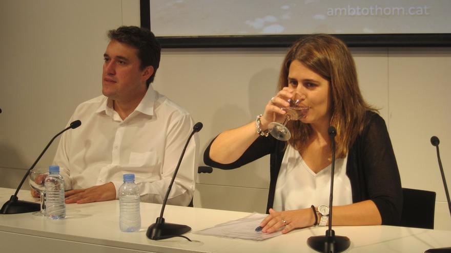 Bonvehí, junto a la coordinadora general del PDECat, Marta Pascal