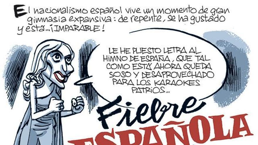 La tira de Fontdevila: Fiebre española