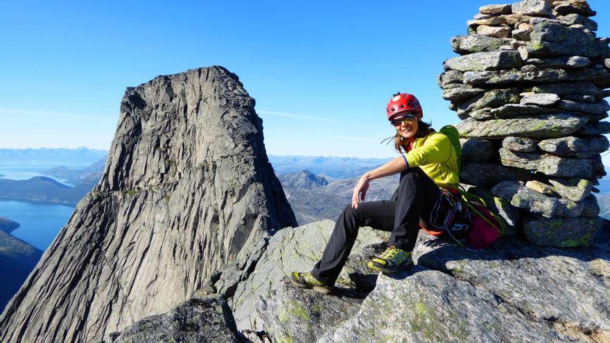 En la imagen, Araceli Segarra en Noruega. Foto: CALFONS VALLS