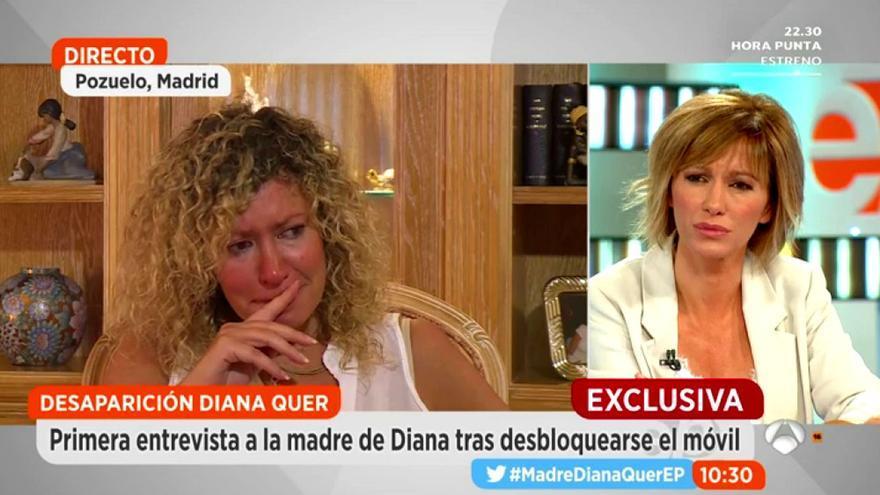 La madre de Diana Quer en una entrevista en Espejo Público
