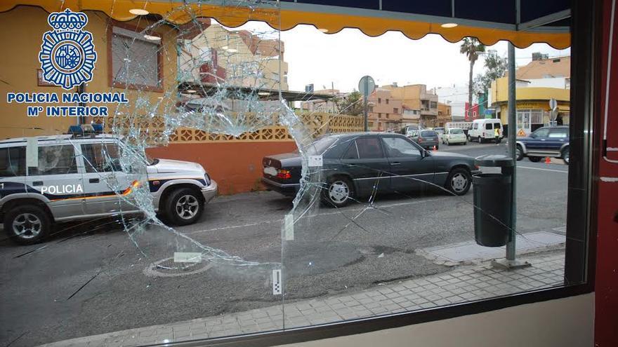 Uno de los establecimientos asaltados en Telde. (POLICÍA NACIONAL)