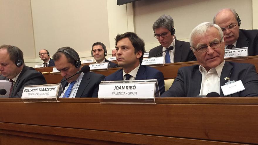 El alcalde de Valencia, Joan Ribó, en la cumbre del Vaticano
