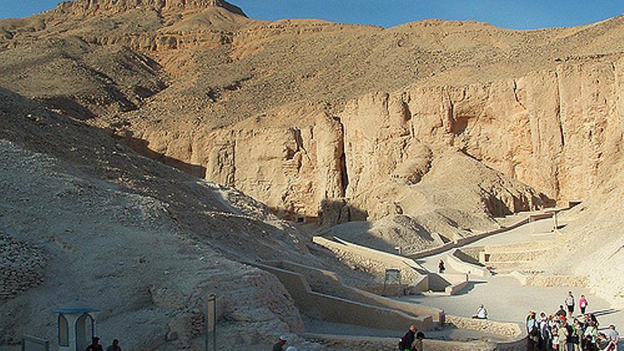 El Valle de los Reyes se encuentra a unos seis kilómetros de la antigua Tebas y oculto tras altas montañas. Roger Green