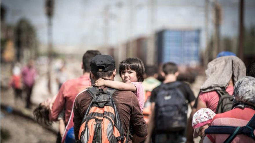 Una de las fotografías de 'Viaje a la esperanza' de Cruz Roja