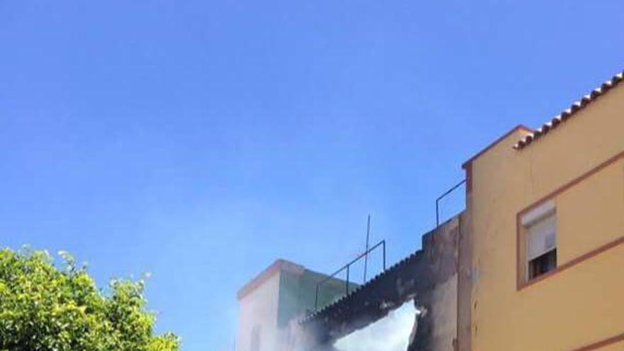 Incendio en Agüimes