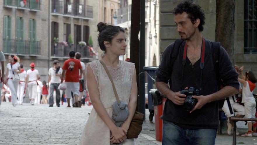 Un fotograma de la película 'Blue Lips', rodada en Pamplona.