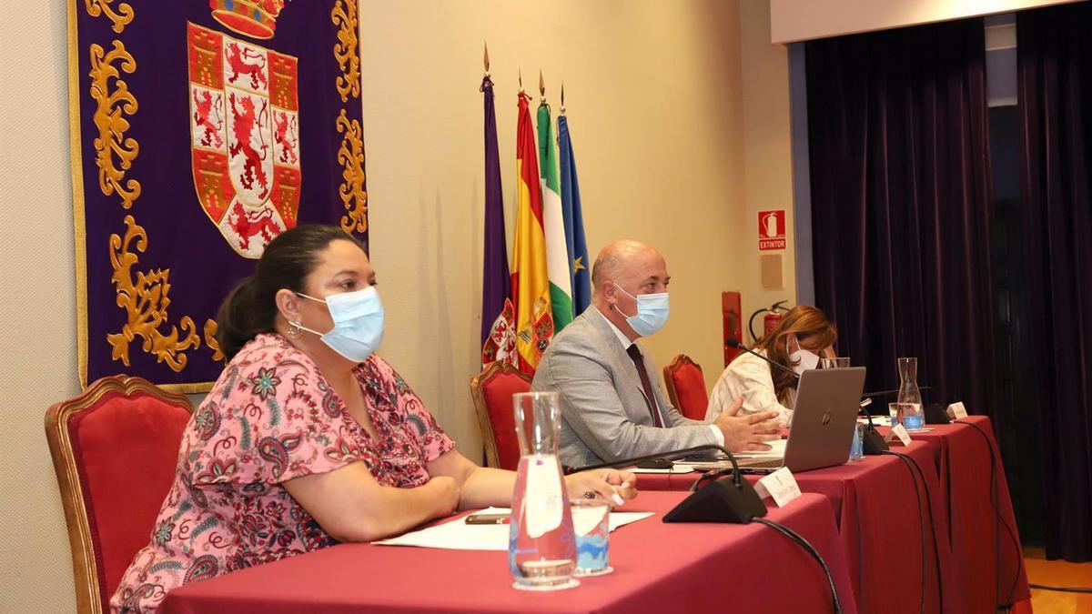 El presidente de la Diputación de Córdoba, Antonio Ruiz, preside el Pleno de la institución provincial.