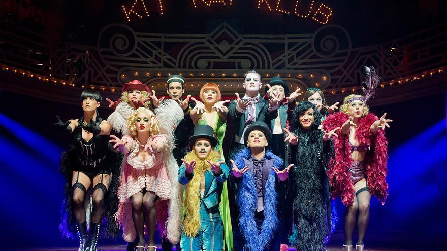 Una de las escenas del musical 'Cabaret'.