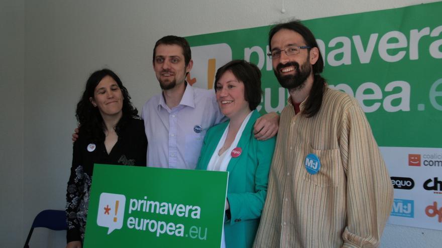Esther Moreno, Florent Marcellesi, Noelia Seller y Arturo Angulo