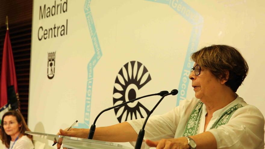 La delegada de Movilidad y Medio Ambiente, Inés Sabanés, durante una presentación de Madrid Central.