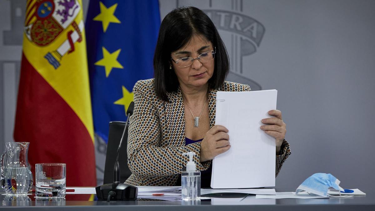 La ministra de Sanidad, Carolina Darias.
