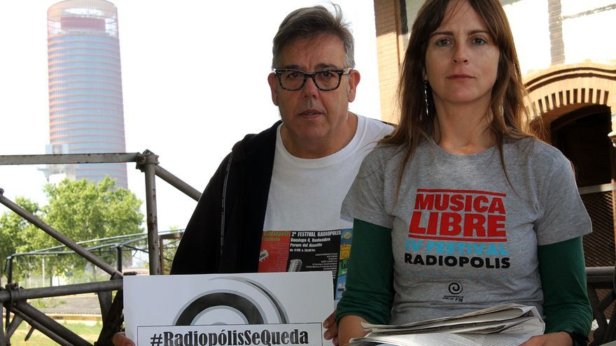 Ismael González y María Navarro, de Radiópolis. / J.M.B.