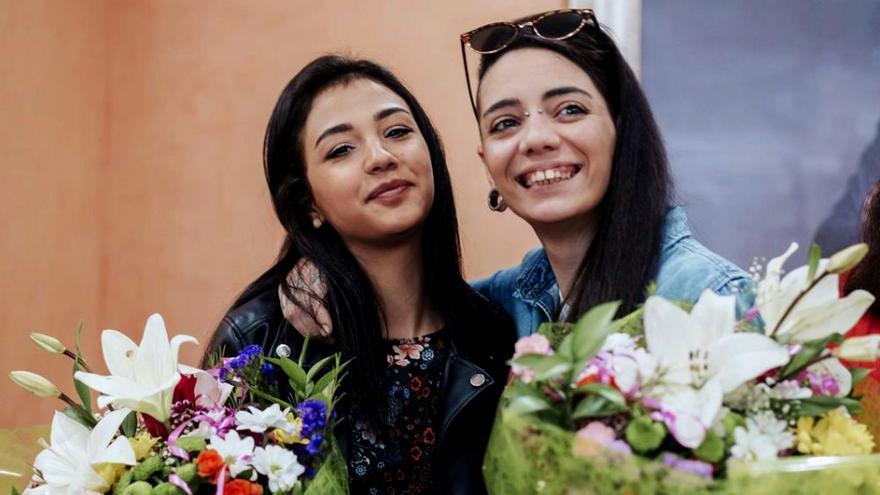 La pareja perseguida María Jimena y Shaza