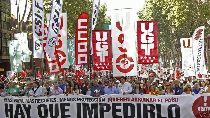 Manifestación contra los recortes en Madrid. EFE