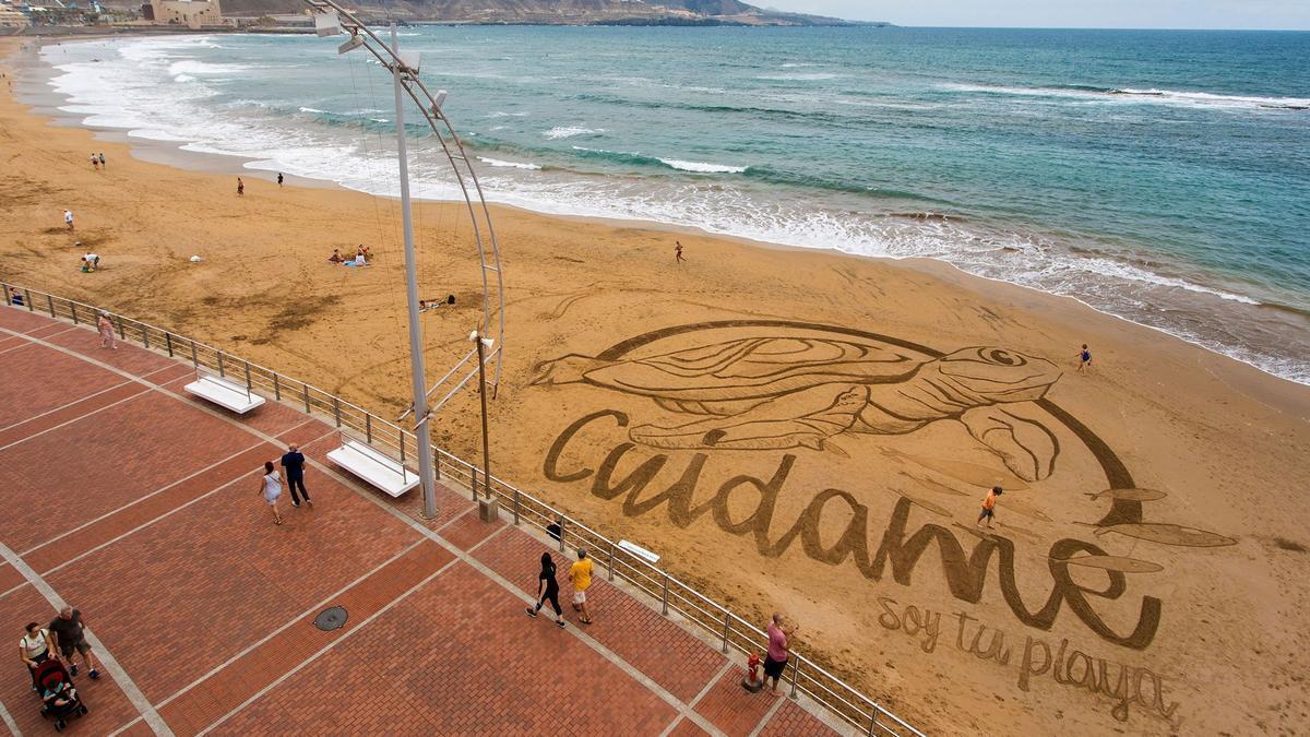 Playa de Las Canteras, una de las Ecoáreas de la Consejería de Turismo