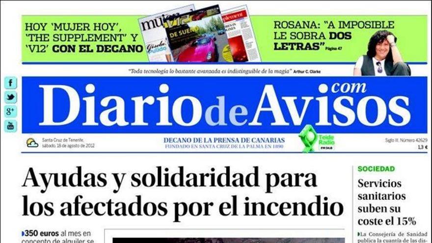 De las portadas del día (18/08/2012) #2