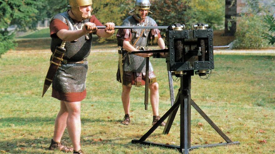 Representación de romanos durante las Guerras Astur-Cántabras.