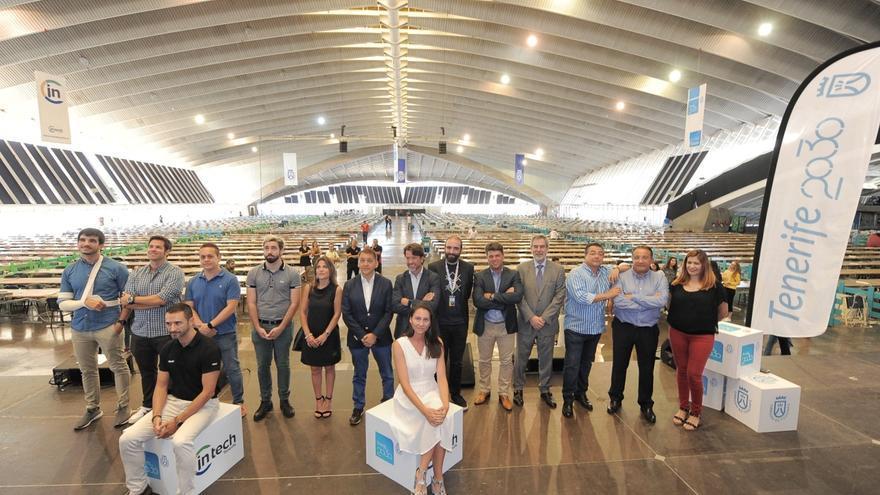 Acto de presentación de la cita TLP Tenerife, este lunes en el Recinto Ferial, con presencia de cargos públicos
