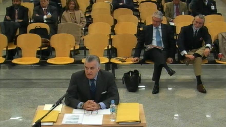 Luis Bárcenas, en el juicio de Gürtel