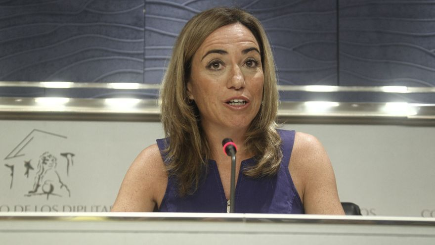 Chacón reaparece en España para presentar a Tomás Gómez en un acto informativo
