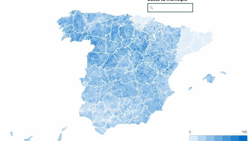 La España de cada partido en los votos del 26J