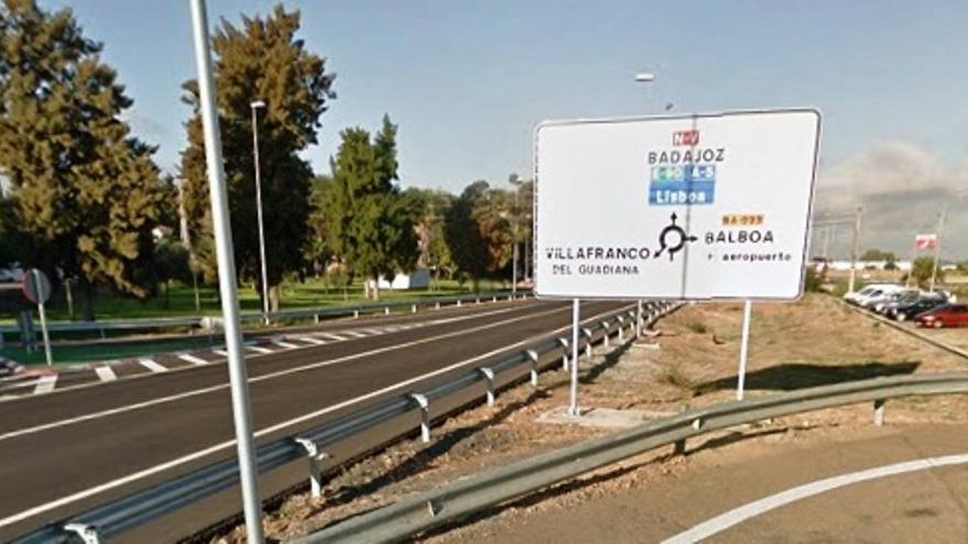 Paneles de acceso  Villafranco del Guadiana (Badajoz) / Google Maps
