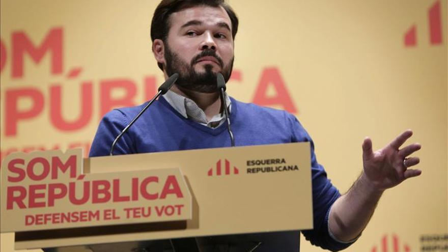 Rufián avisa de que sin CDC el proceso independentista no puede ganar