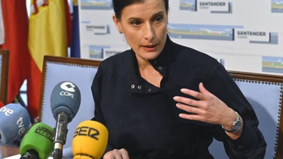 Gema Igual, alcaldesa de Santander.